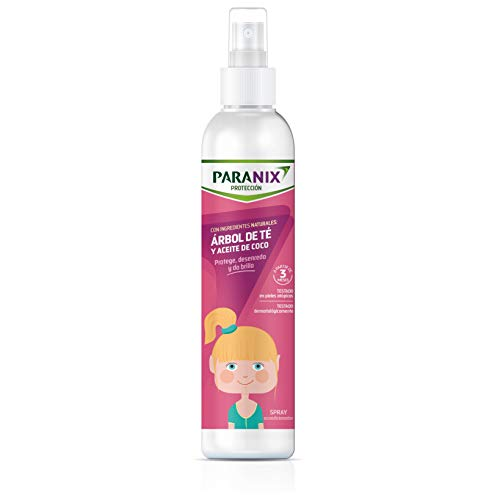 Paranix | Protección Árbol de Té Niña | Con Ingredientes Naturales | Arbol de Té y Aceite de Coco | Protege, Desenreda y da Brillo al Cabello | 250 ml