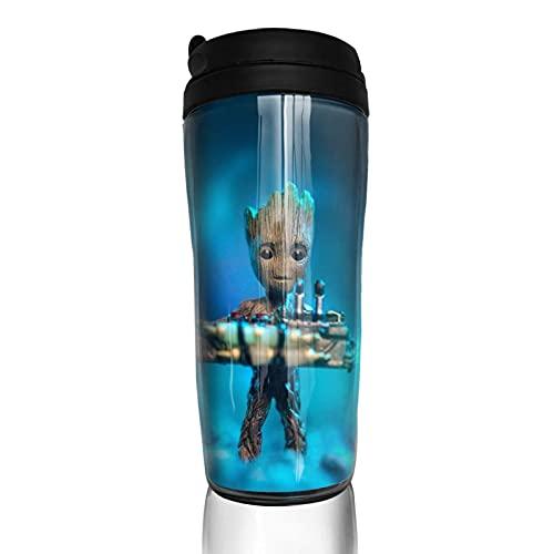 Groot Baby Superhero - Taza de café reutilizable con aislamiento para bebidas calientes frías y calientes para té y cerveza