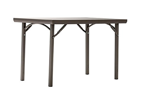 "ZOWN Premium Commercial 48"" (4 ft) Blow Mold Banquet Folding Table, Brown"