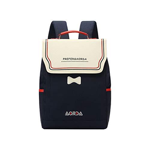 FANDARE Mujer Mochila Casual Bolso Escolar con Puerto USB Niñas Daypack para 15.6 Inch Portátil Backpack Viajes Colegio Compras Paño Oxford Impermeable Mochila Azul