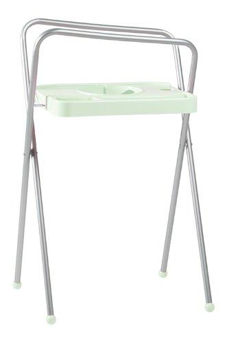 Bébé-jou Support de Bain en Aluminium pour Baignoire Vert Clair Hauteur 103 cm