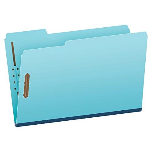 Pendaflex Pressboard Fastener Folders, Legal Size, Light Blue, 1
