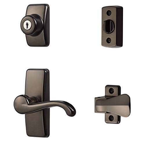Ideal Security Inc. HK01-I-ORB GL Lever Set for Storm and Screen Doors, 4-Piece, Oil Rubbed Bronze