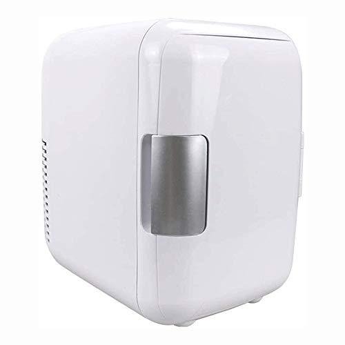 Big Shark Mini refrigerador del refrigerador de una Sola Puerta Mini Nevera con congelador del hogar del Coche 4L Nevera doméstica pequeña Nevera refrigerada (Color : White)