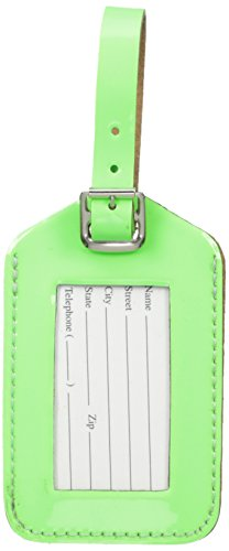 Rectangular Luggage Tag in Neon by Lewis N. Clark (Green)