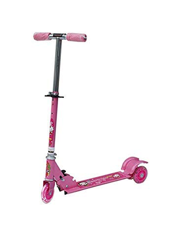 JAMUNESH Road Runner Scooter for Kids of 3 to 14 Years Age 3 Adjustable Height, Foldable, LED PU Wheels & Weight Capacity 75 kgs Kick Scooter with Brakes (Pink)
