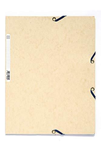Exacompta Europa Elasticated 3 Flap Folders, 400gsm, A4 - Ivory, Pack of 25