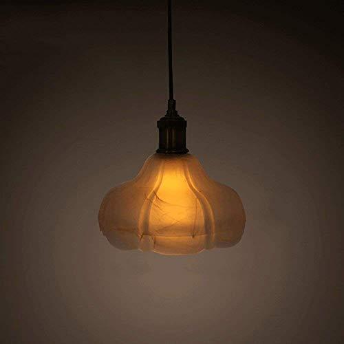 YUNZHI American Country Araña Restaurante Retro lámpara de Cristal Cafetería Pantalla de Cristal de la lámpara Creativa Lámpara Colgante Lámpara Restaurante Cafetería Bar Techo de la lámpara E27