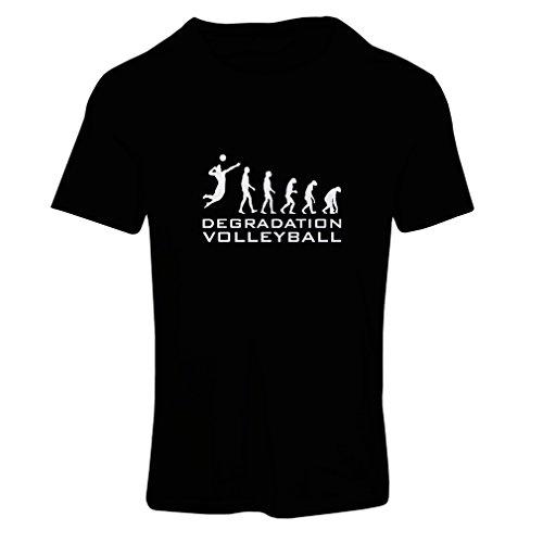 lepni.me T-Shirt Femme Dégradation du Jeu de Volley-Ball, Cadeau d'humour pour Joueur de Sport (Small Noir Blanc)