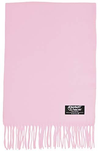 ADAMANT Damen Schal, 100% Climaxsoft (weich wie Kaschmir) - Made in Germany - uni/Einfarbig - 180x30cm - Rosa