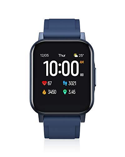 AUKEY Smartwatch, 1,4'' Full Touch 320p Schermo Orologio Fitness Activity Tracker, Impermeabil IP68, Cardiofrequenzimetro, Cronometro Contapassi, Notifiche Messaggi, Controllo della Musica, Blu
