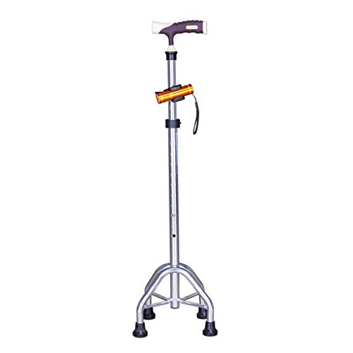 Bastón no plegable, tubo de cuatro patas, anciano, tubo telescópico, diseño de mango ergonómico para agarre débil o artritis, 705-930 mm, base antideslizante, muletas