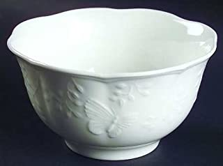 Lenox White Butterfly Meadow Cloud Rice Bowls, Set of 4 for Soup/Cereal