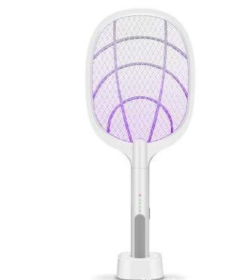LWWOZL Elektrische Fliegenklatsche Extra Stark, Insektenvernichter Fliegenfänger USB Aufladbar, 3-Schicht Mesh Schutz, Moskito Killer für Drinnen und Draußen