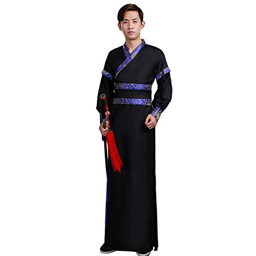 Xingsiyue Hombres Chino Hanfu - Antiguo Tradicional Retro Etapa de Rendimiento Traje de Tang Disfraz