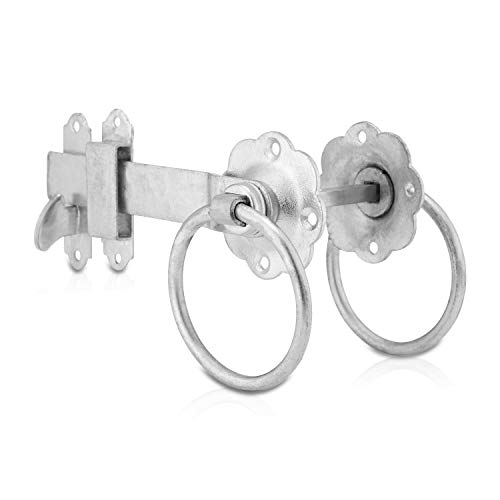 XFORT Galvanised Ring Gate Latch, Door Lock That is Corrosion Resistant and Protects Against The Weather, Suitable for External Use As Garden Gate Latch, Shed Door Lock, Door Latch.