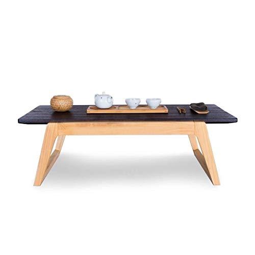 Tragbare kleiner Couchtisch Wohnzimmer Couchtisch, Massivholzmöbel im japanischen Stil Erker Tisch Mode kleiner Balkon, ein kleiner Tisch Couchtisch Sinologie ( Color : Brown , Size : 30*40*60cm )