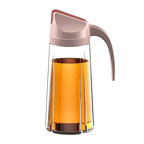 SMEJS Engrasador Cocina Vidrio Sellado Botella de Aceite hogar automático Apertura de Tapa de la Botella a Prueba de Fugas Salsa de Soja Botella Especia frascos (Color : A)