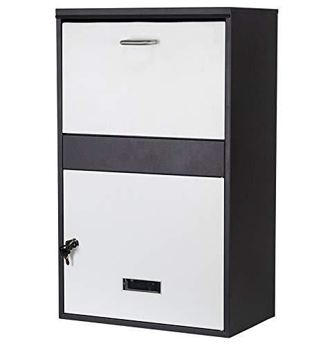 LXLA Briefkasten Große Paket-Dropbox Freistehend, Sichern Paket Mailbox für Porch Pirate, Abschließbarer Wasserdichter Briefkasten Im Freien - 2 Schlüssel und Hardware Enthalten