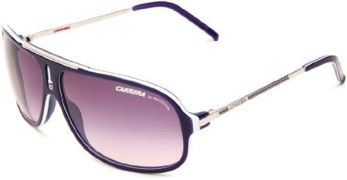 Carrera COOL/S Pilot Sunglasses, Violet & White Palladium Frame/Plum Gradient Lens, 68 mm