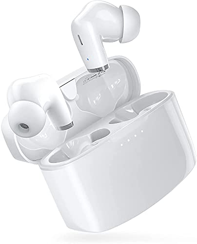 Wireless Earbuds, E90 Bluetooth Earbuds with Extra Deep Bass and Stereo Sound, IPX8 Waterproof Stereo Wireless Earphones with Built-in Microphone and Touch Control IPX8 Waterproof