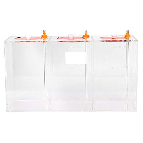 Pssopp Aquarium Acryl Flüssigkeitsvorratsbehälter Transparent Dosierpumpe Barrel Titration Tank mit Skala(DT-45 4.5L)