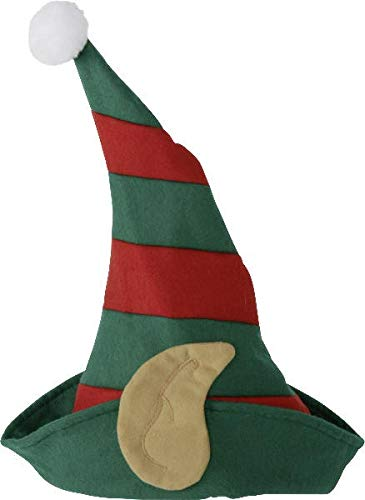 buy'n'get kerstmuts kaft met oren - rood groen gestreept - One Size (One Size - dubbelpak)