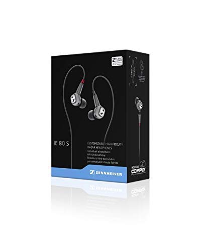 Sennheiser IE 80 S - Cuffia In Ear per iOS, High-Fidelity