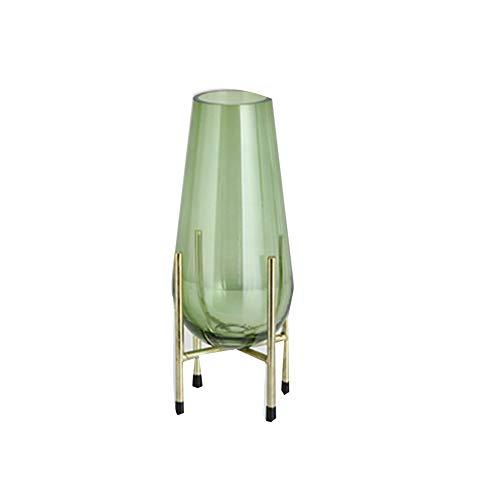 Glas Bloem Vaas Nieuwe Chinese Modern voor Bloem Home Decor, Nordic Modern Minimalistische Woonkamer Glas Transparante vaas Modern design small Kleur
