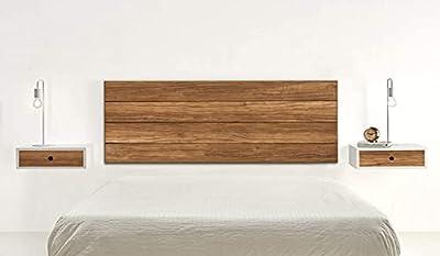 *Cabecero de madera maciza natural acabado encerado. *Medidas: Ancho:155 cm x Alto: 60 cm x Grosor: 2 cm. *No requiere montaje, sólo colgar en la pared. *Fabricado en España. Garantía de satisfacción 100%. *La oferta sólo incluye en cabecero.