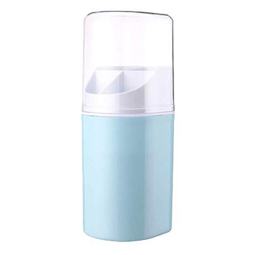 Soporte de pared para palillos de drenaje sin costuras, para colgar en la pared, con cubierta, palillos de polvo, canasta de secado con tapa, a prueba de polvo, soporte para cubiertos, color azul