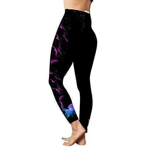 bayrick Yoga Hose Damen Baumwolle,Internet-Promi gleichen Stil,Gym Yoga Hosen Frauen Fitness Hohe Taille Workout Sport Leggins-Rosa_M.