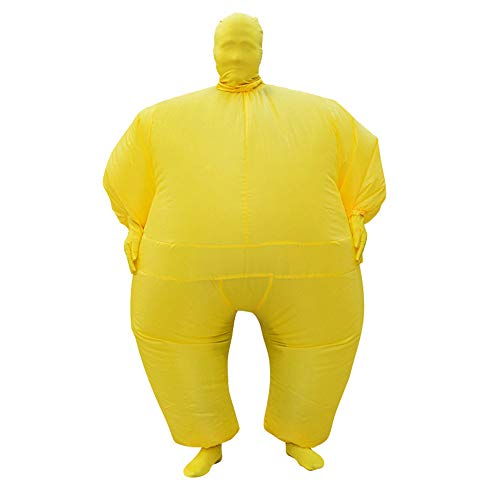 Fat Suits for Adults Inflatable Masquerade Costume Blow up Suit Full Body Jumpsuit Funny Fancy Dress for Holiday Party Cosplay Halloween Christmas(Yellow)