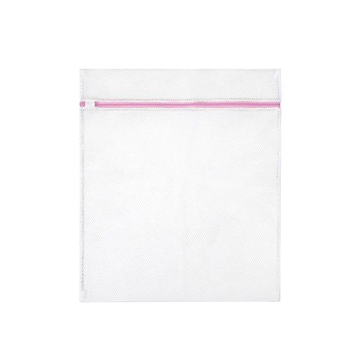 Merssavo Sac de lavage en lingerie blanche Sous-vêtement Sac de toilette Sac à linge grossier