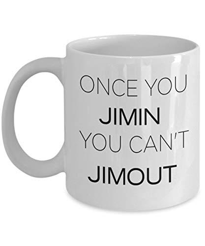 BTS Tasse – Once You Jimin You Can't Jimout – Bestes Geschenk für K-Pop Fans