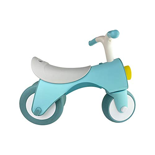 PUCHIKA Kinder Laufrad Lauflernrad für 1-3 Jahre Baby, Balance Fahrrad mit 2 Räder, Spielzeug Rutschrad für Jungen und Mädchen Blau