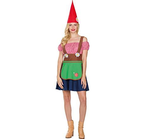 Rubie's Damen Kostüm Zwerg Wichtel Trunni Kleid Mütze Fasching Karneval (40)