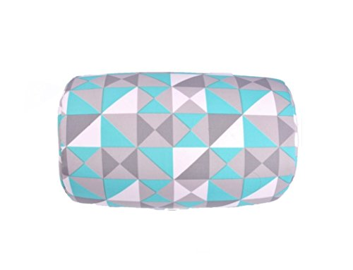"Bookishbunny Micro Beads Cylinder Bolster Roll Pillow 7"" x 12"" (Teal Triangle)"