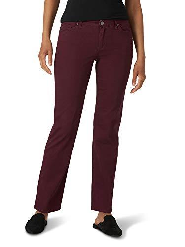 Lee Women's Relaxed Fit Straight-Leg Jean, Wine Tasting, 12 Short