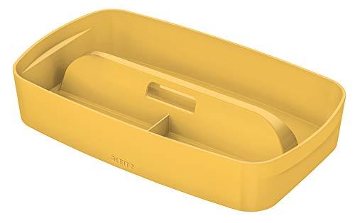 Leitz MyBox Aufbewahrungsschale mit Griff, Warmes Gelb, Cosy-Serie, 52660019