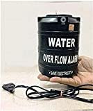 Plastic Water Over Flow Tank Alarm with Voice Sound Water Sensitive Overflow Alarm (Black)