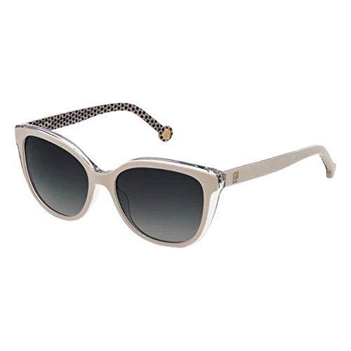 Carolina Herrera Gafas de Sol Mujer SHE694540AR7 (Diametro 54 mm), Tan, Talla Unica Unisex-Adult