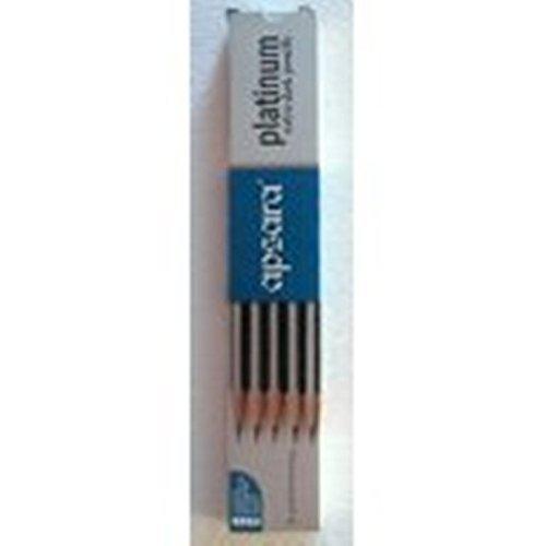 Apsara Platinum Extra Dark Pencils 1 Pack X 10 Pencils + Eraser And Sharpner Free