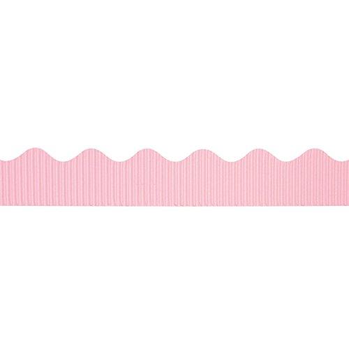 """Bordette Scalloped Decorative Border P37264, 2-1/4"""" x 50', Pink, 1 Roll"""