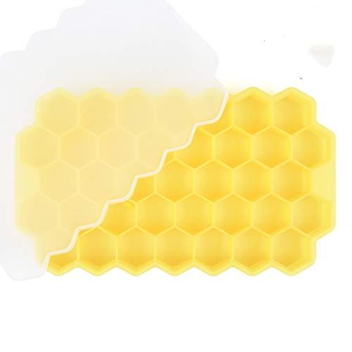 YWSZJ Waben-Eiswürfel-Tabletts mit abnehmbaren Deckeln Kieselgel-Eiswürfel-Form BPA frei (Color : D)