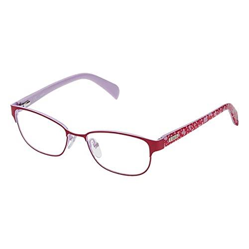 TOUS S0350801 Marcos para Gafas recetadas, Rojo, 49 mm Unisex niños