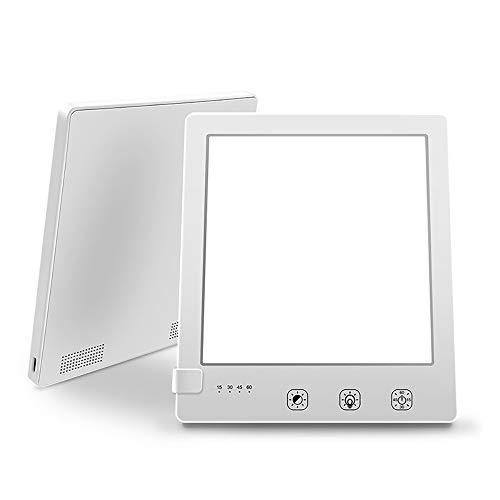 Viitech SAD-Lichttherapielampe, tragbare UV-freie 10000 Lux LED-Lichttherapielampe, Touch Control USB Typ C und 4 Timer-Einstellungen für saisonale Depressionen zu Hause/im Büro 6,29 * 5,5 Zoll
