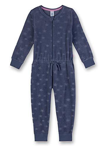 Sanetta Mädchen Einteiliger Schlafanzug Jumpsuit Long, Blau (New Jeans 5828.0) (92)