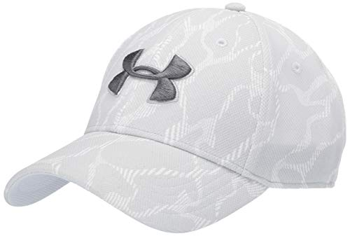 Under Armour Mens Printed Blitzing 3.0 Gorra, Hombre, Gris (Mod Gray/Steel/Black 011), M/L