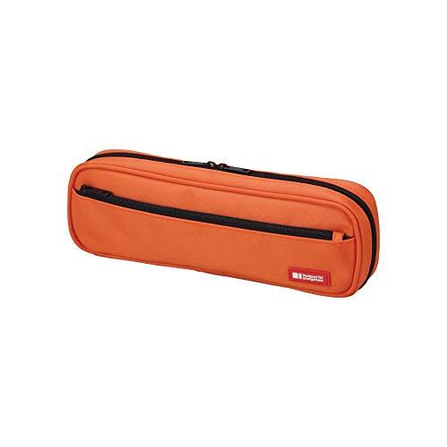 LIHIT LAB Pen Case, 9.4 x 1.8 x 3 inches, Orange (A7552-4)